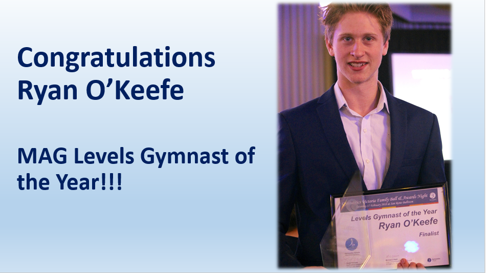 Ryan O'Keefe Levels Gymnast of the year