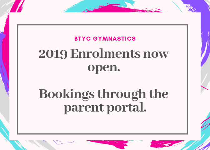 2019 Enrolments Now Open