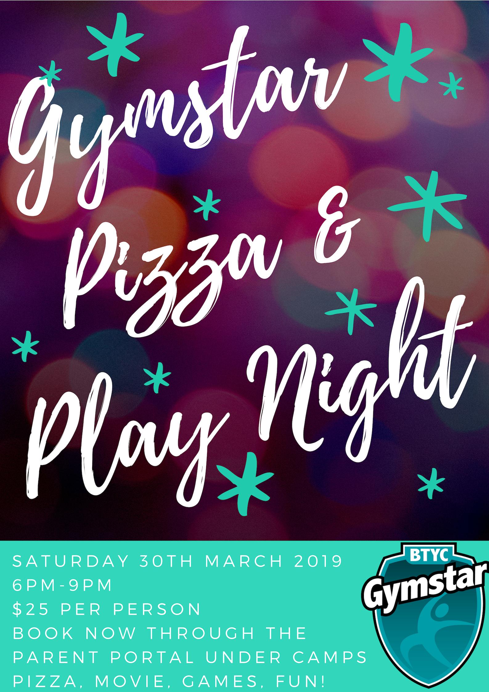 Gymstar Pizza & Play Night V1 - BTYC Gymnastics