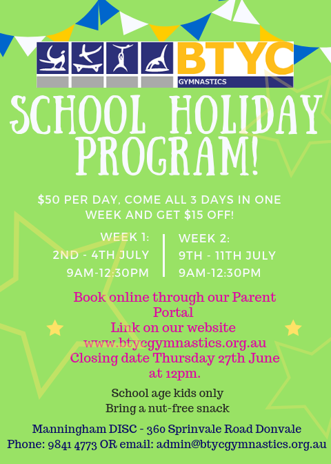 July Holiday Program
